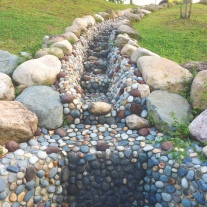 Pebbled Drainage